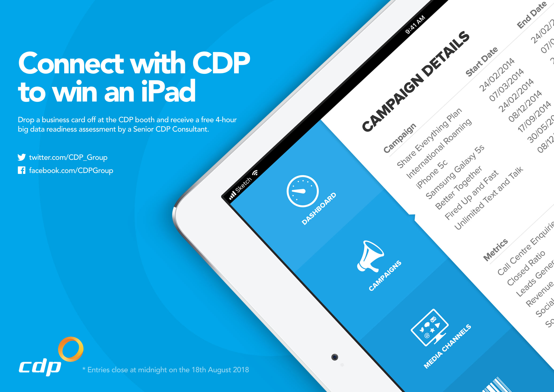 CDP executive lunch invitation lunch and learn - win an iPad