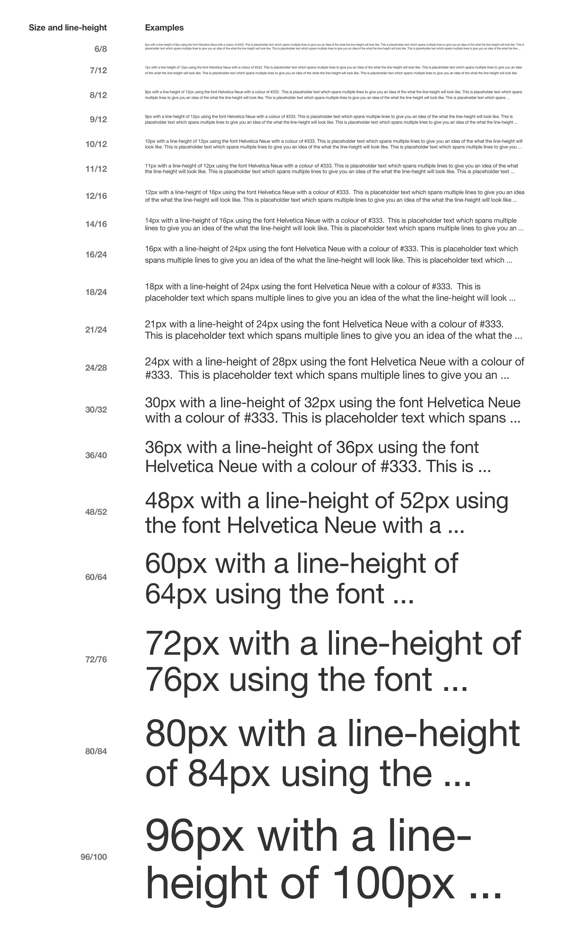 4px baseline grid