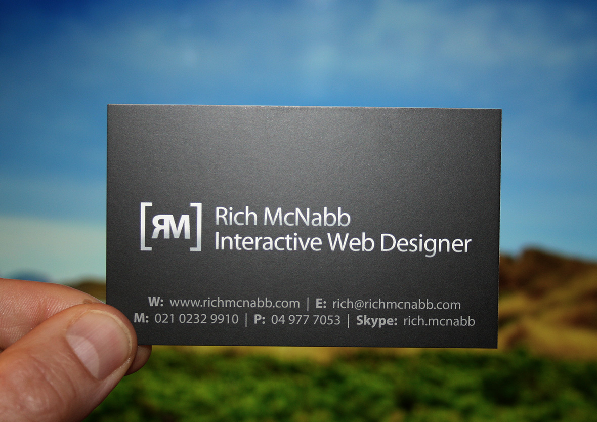 Rich McNabb business card front