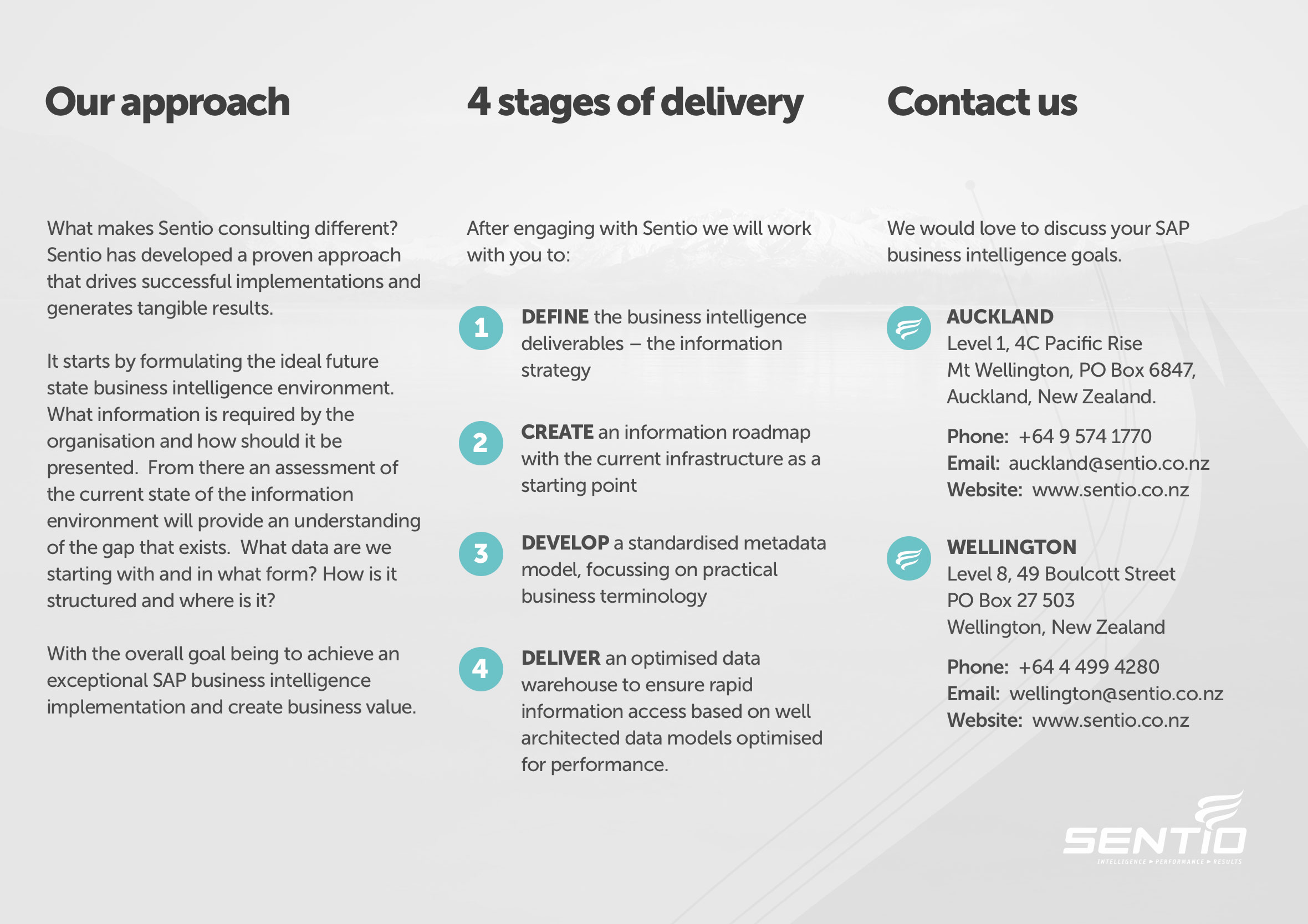Sentio company overview brochure company overview