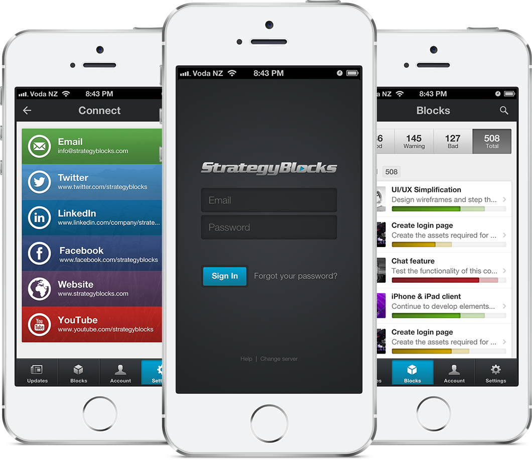 StrategBlocks iPhone app featured