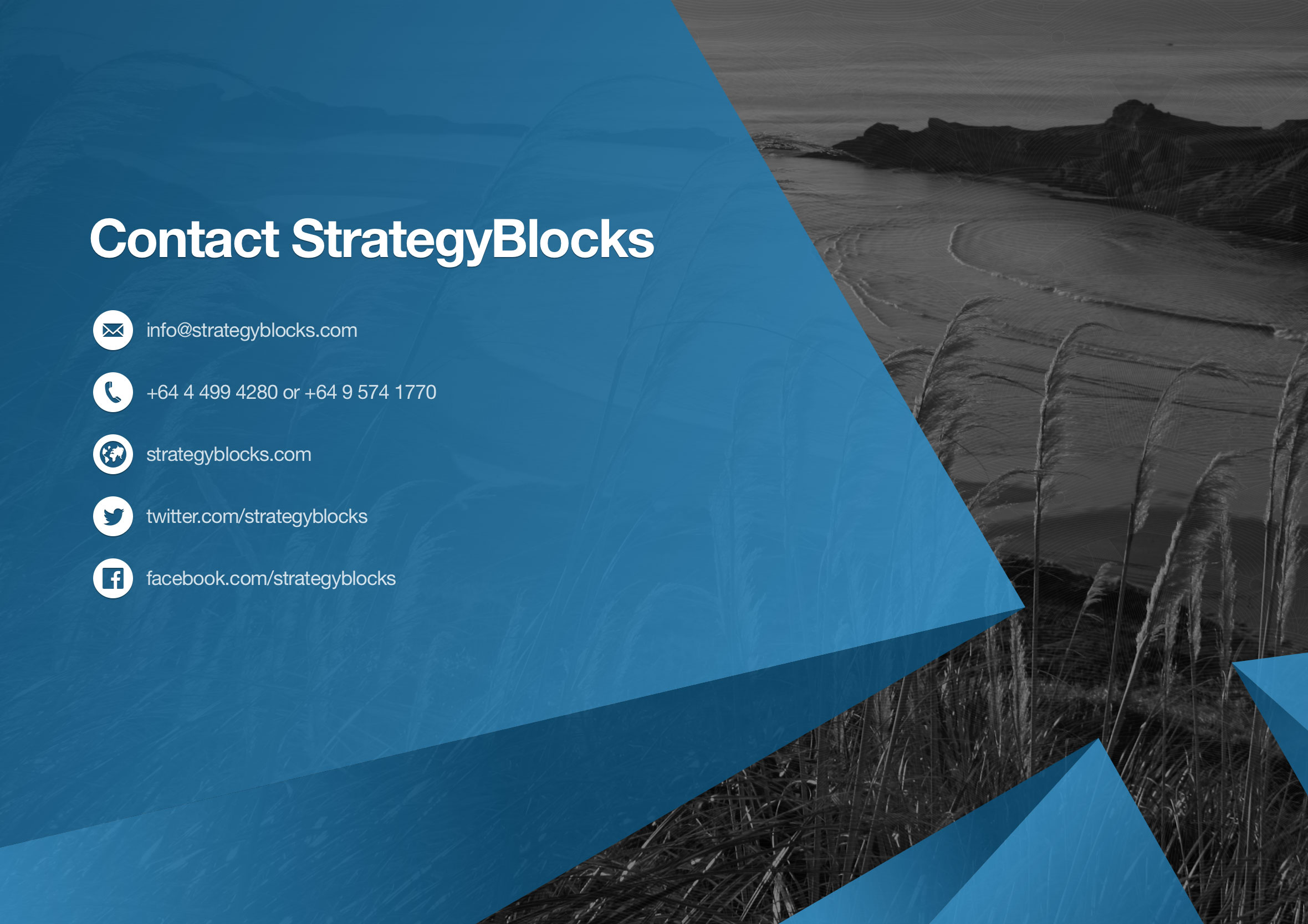 StrategyBlocks PowerPoint template call to action