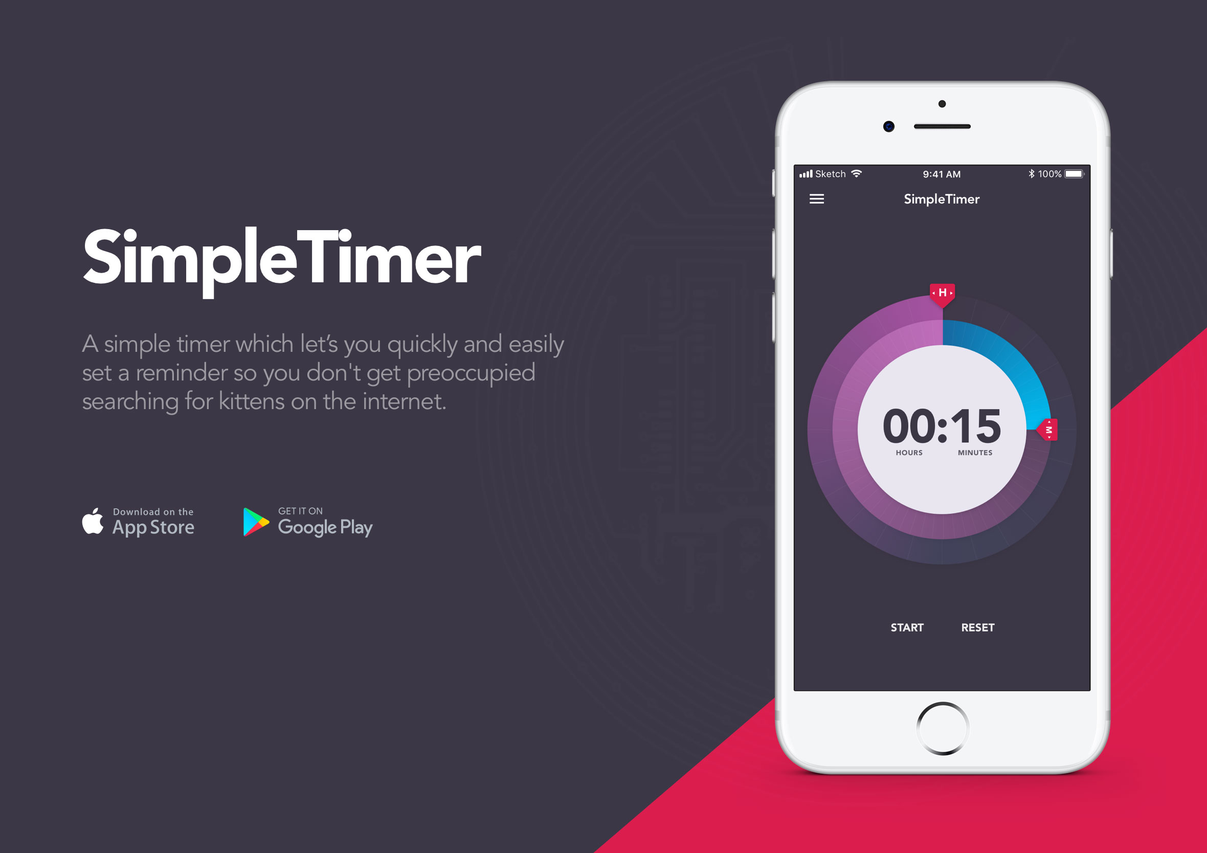 SimpleTimer iPhone app landing page