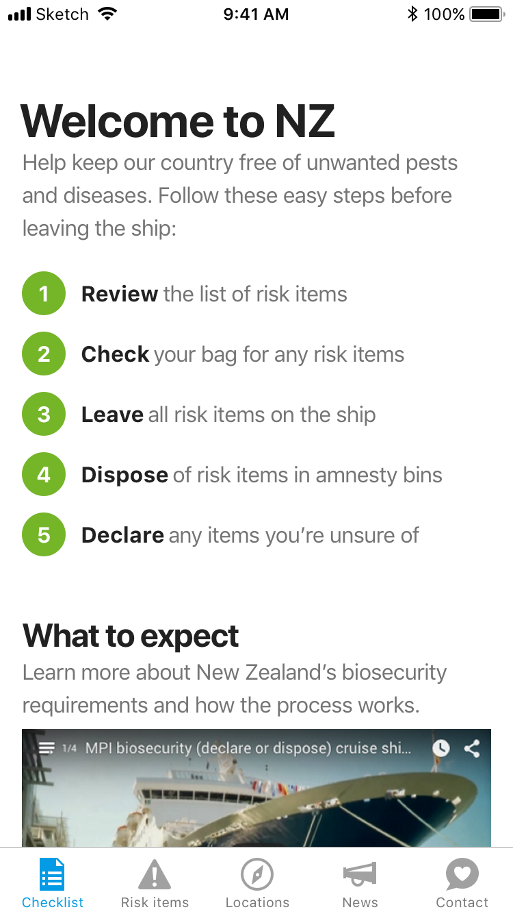 Coming to New Zealand checklist