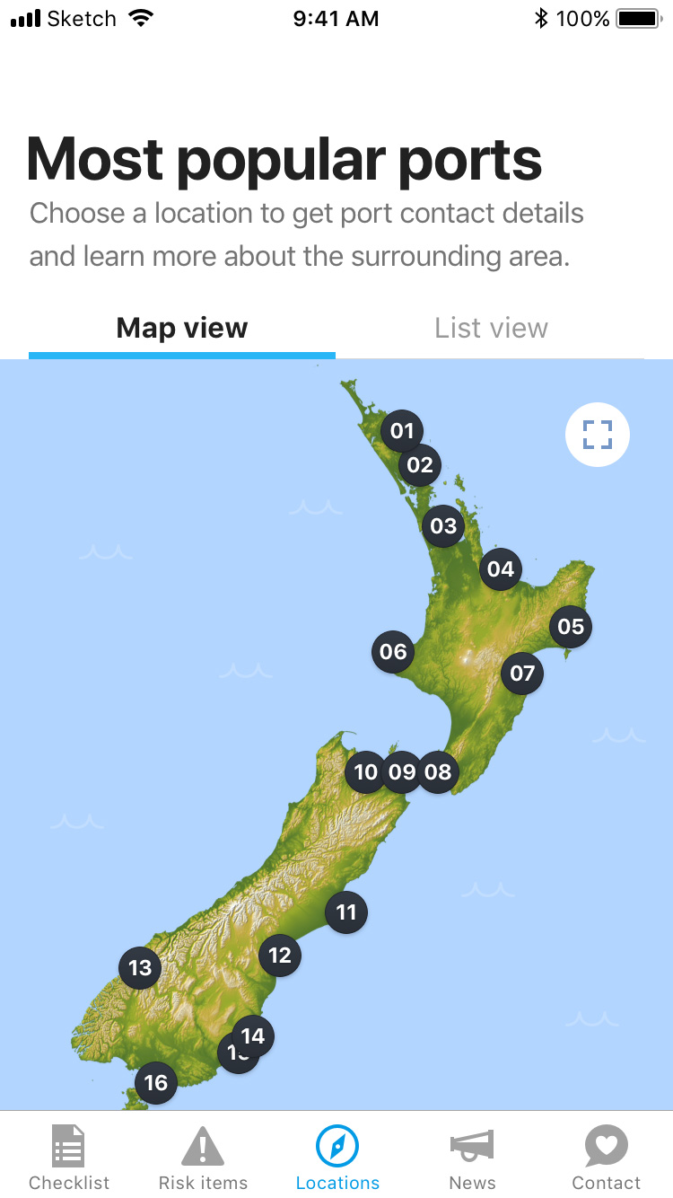 Coming to New Zealand locations most popular ports