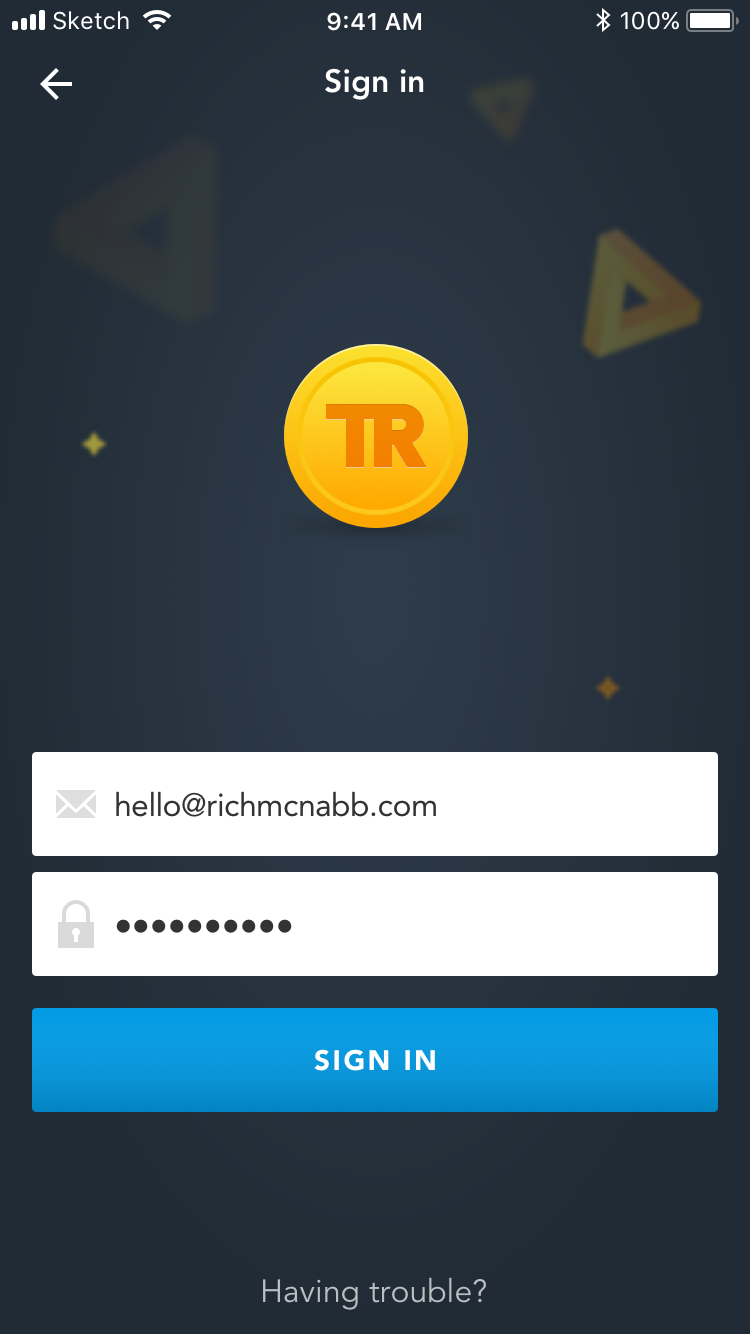 Travel rewards app sign in