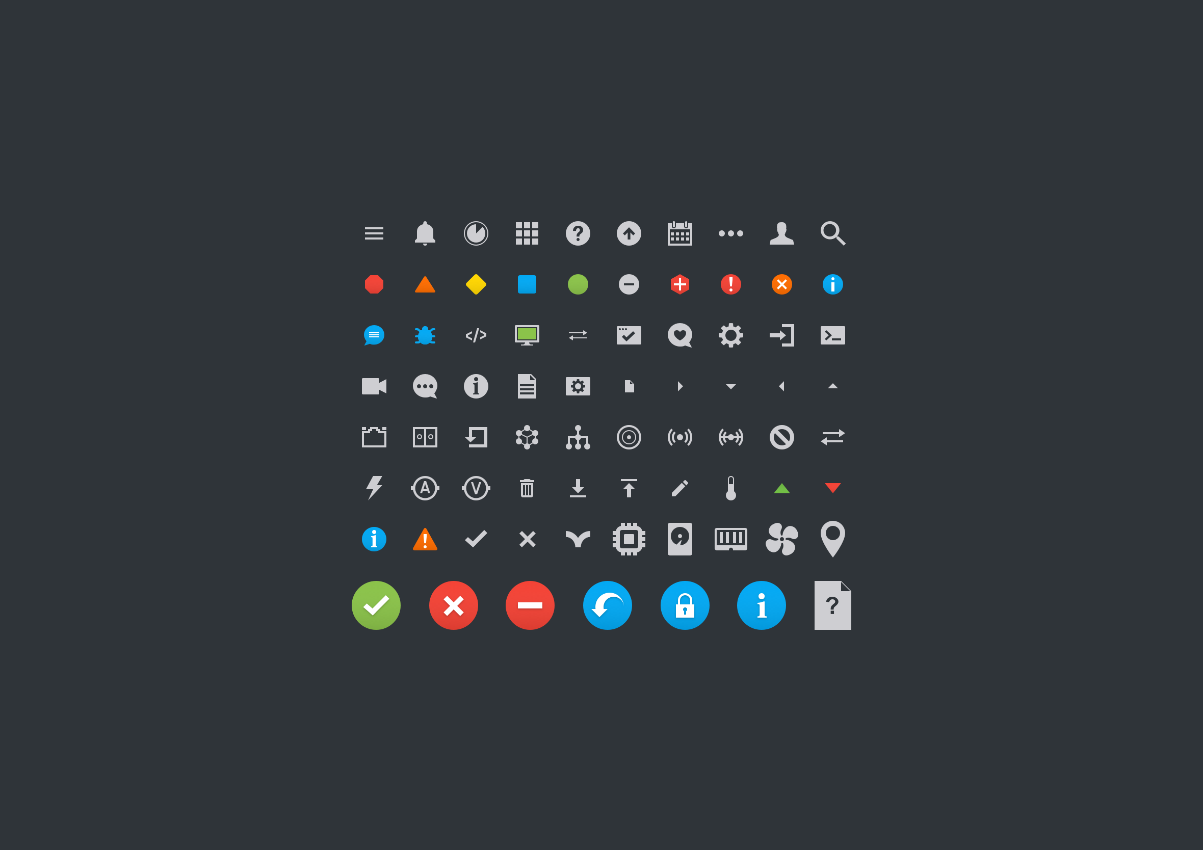 Networking dashboard icons