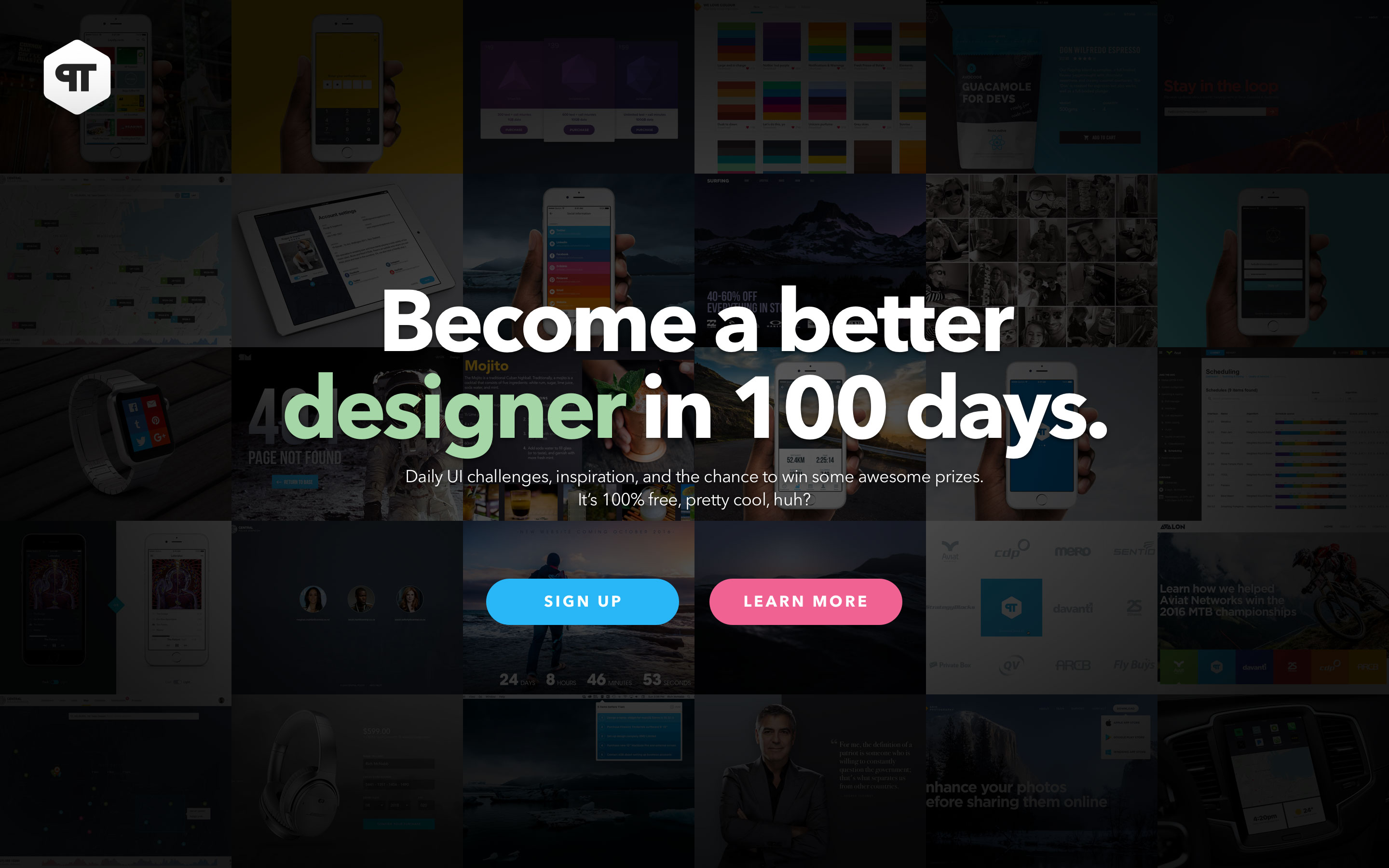 100-redesign-daily-ui-landing-page