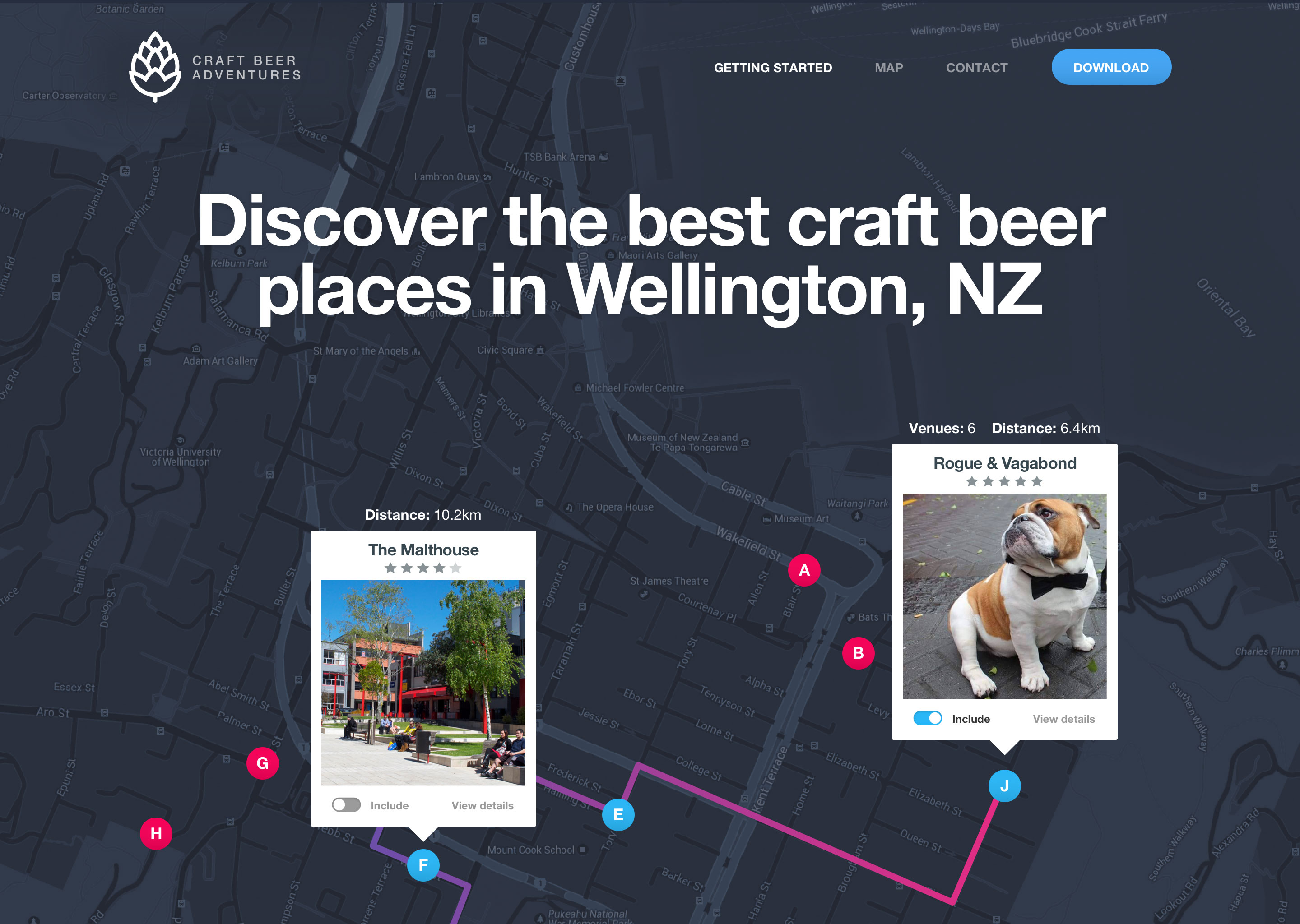 wellington-craft-beer-iphone-app-landing-page
