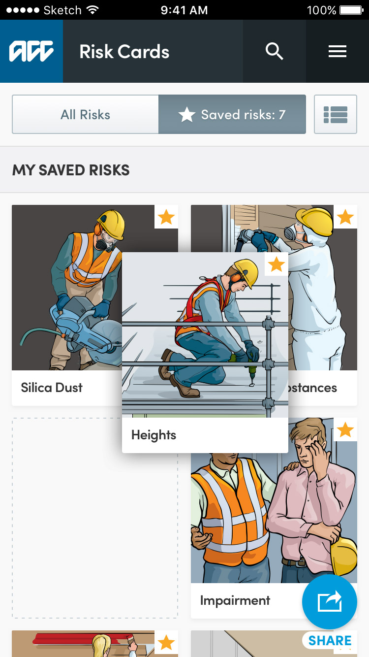 health-and-safety-app-drag-and-drop-grid