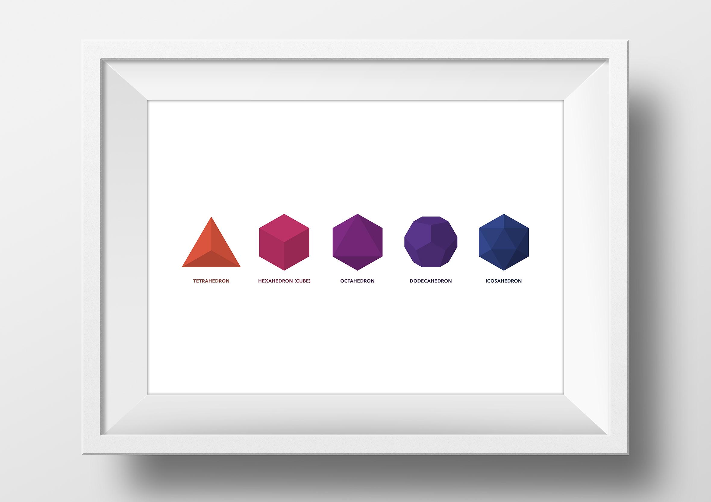 metatrons-cube-origami-app-framed-print