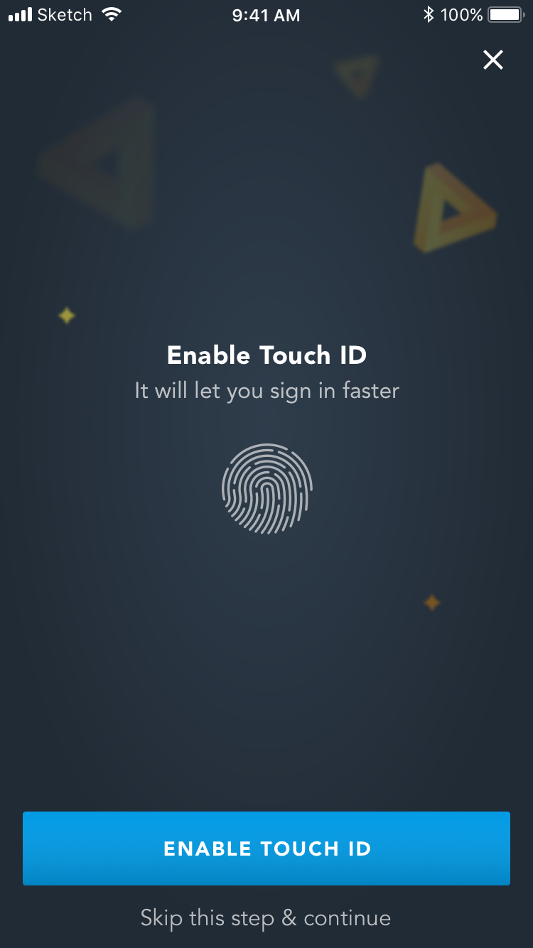travel rewards touch id