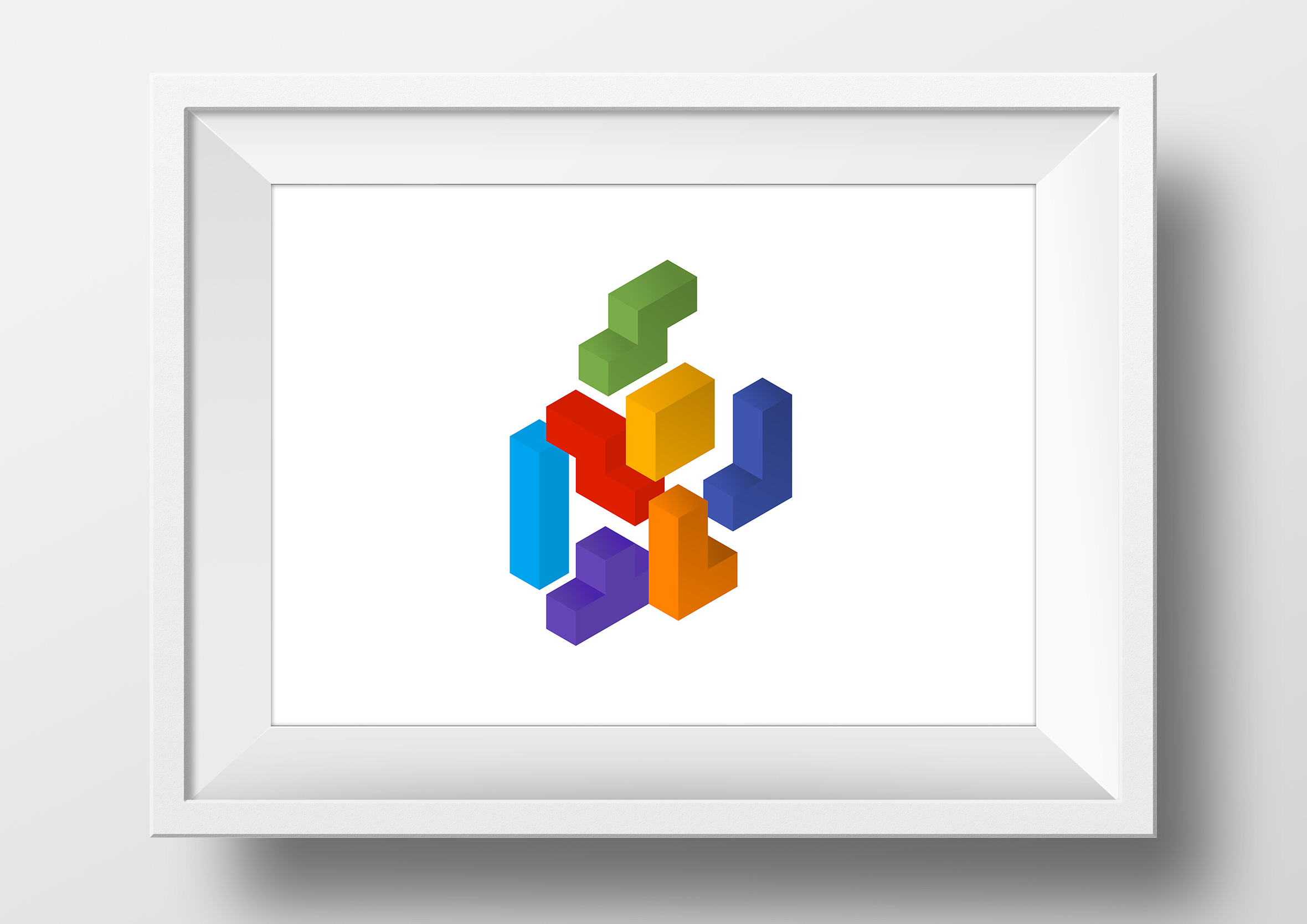 isometric-cubes-framed