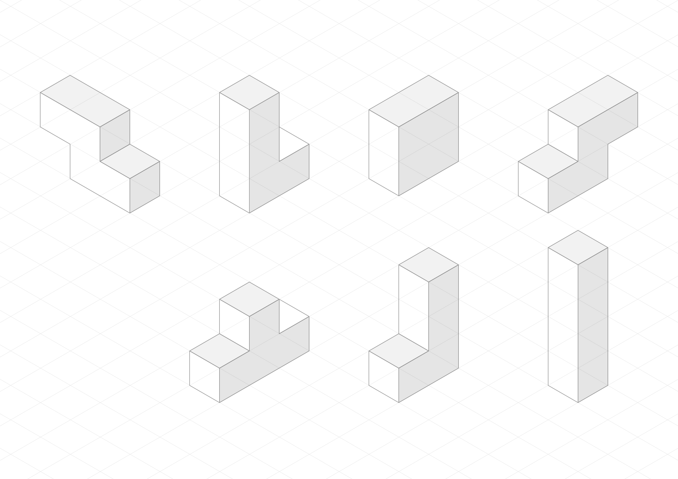isometric cubes grid