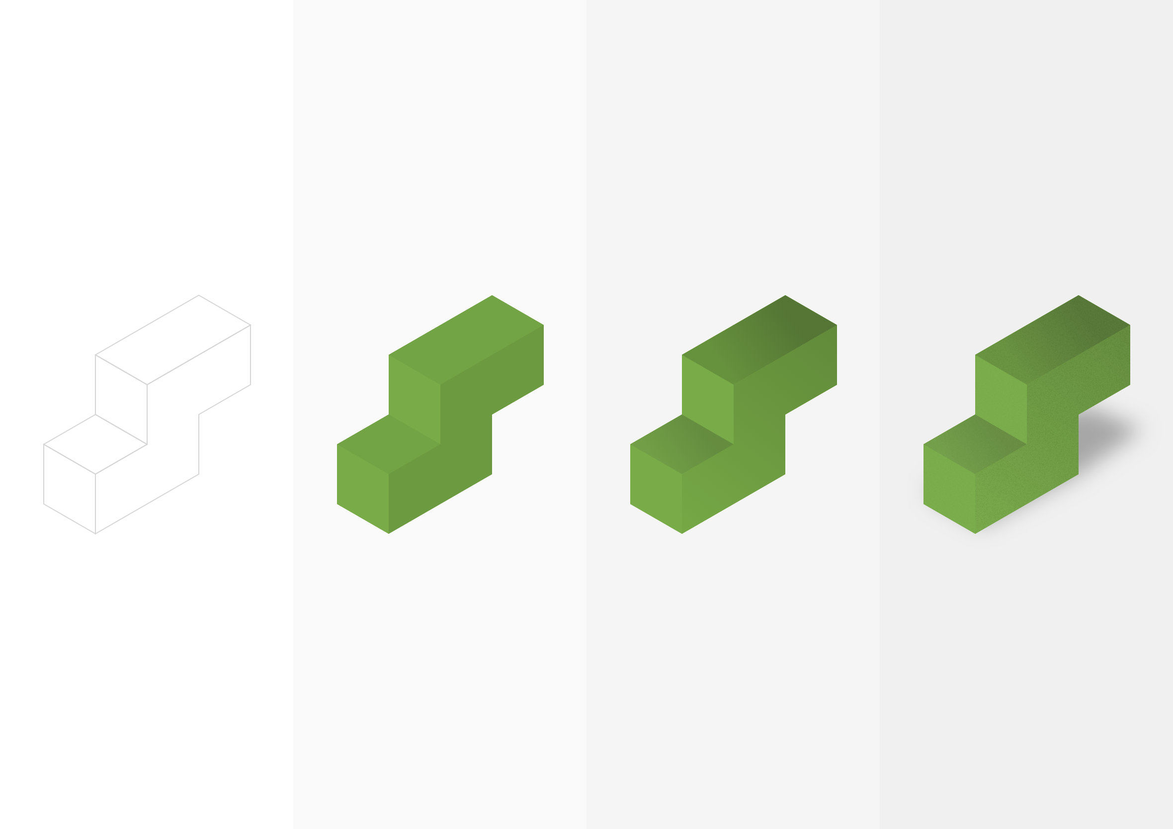 isometric cubes process
