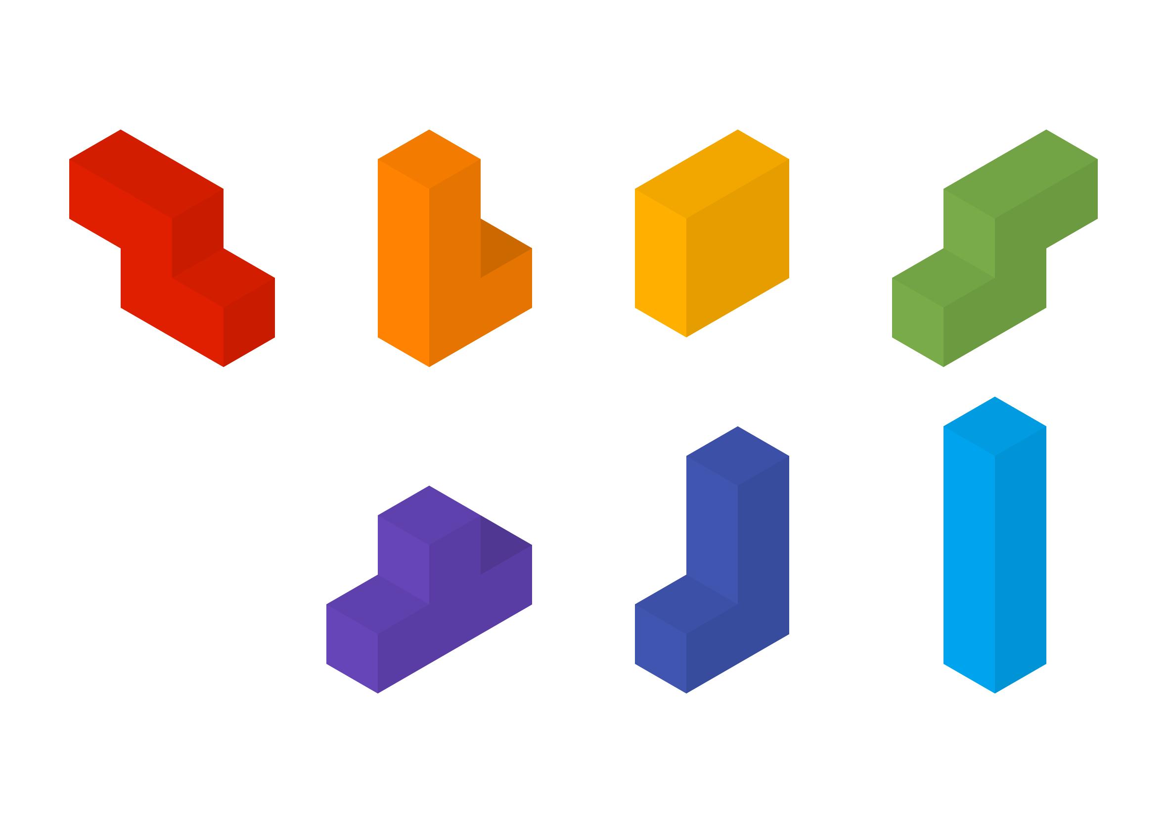 isometric-cubes-tetris-shapes