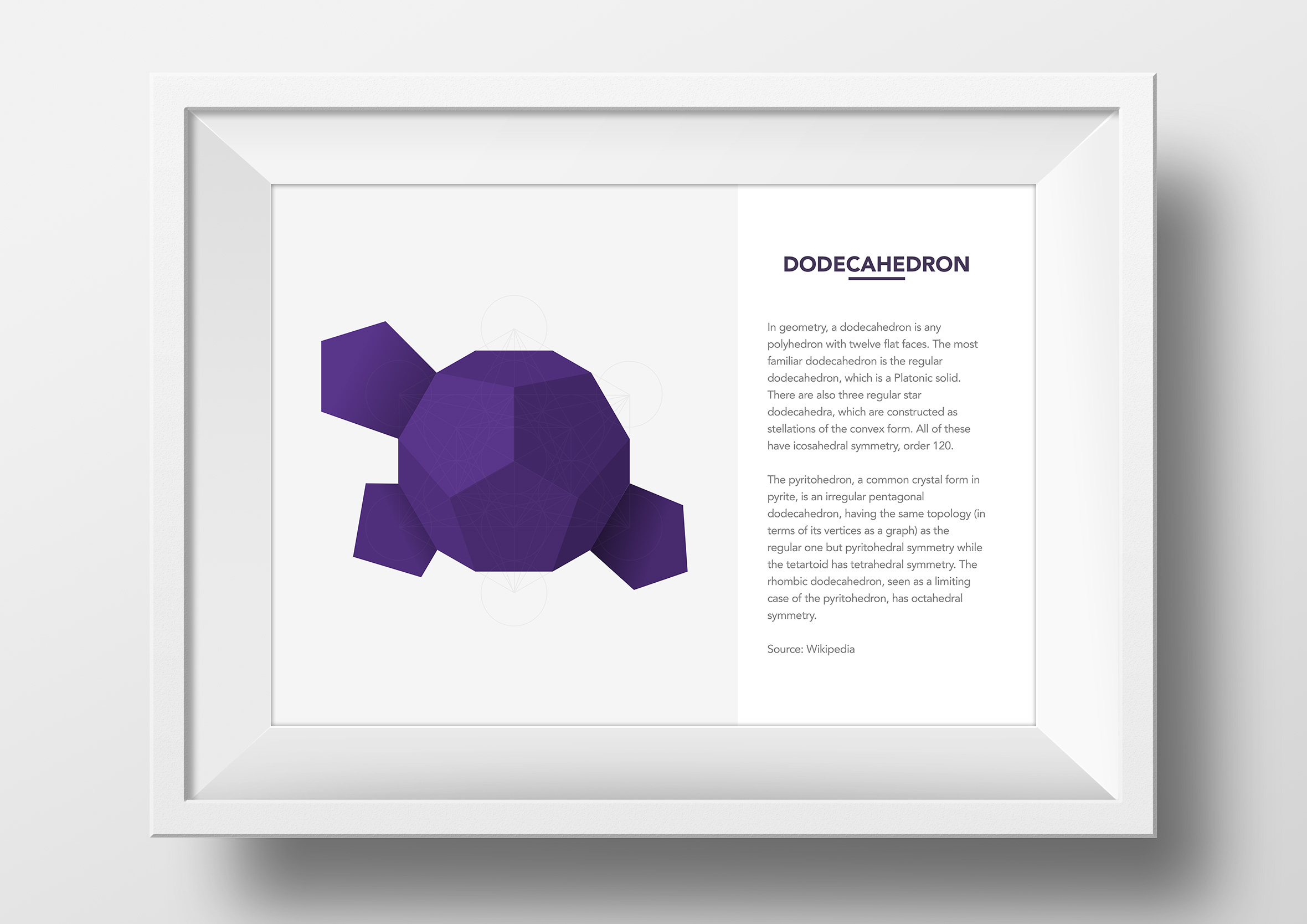 metatrons cube origami app single framed print dodecahedron