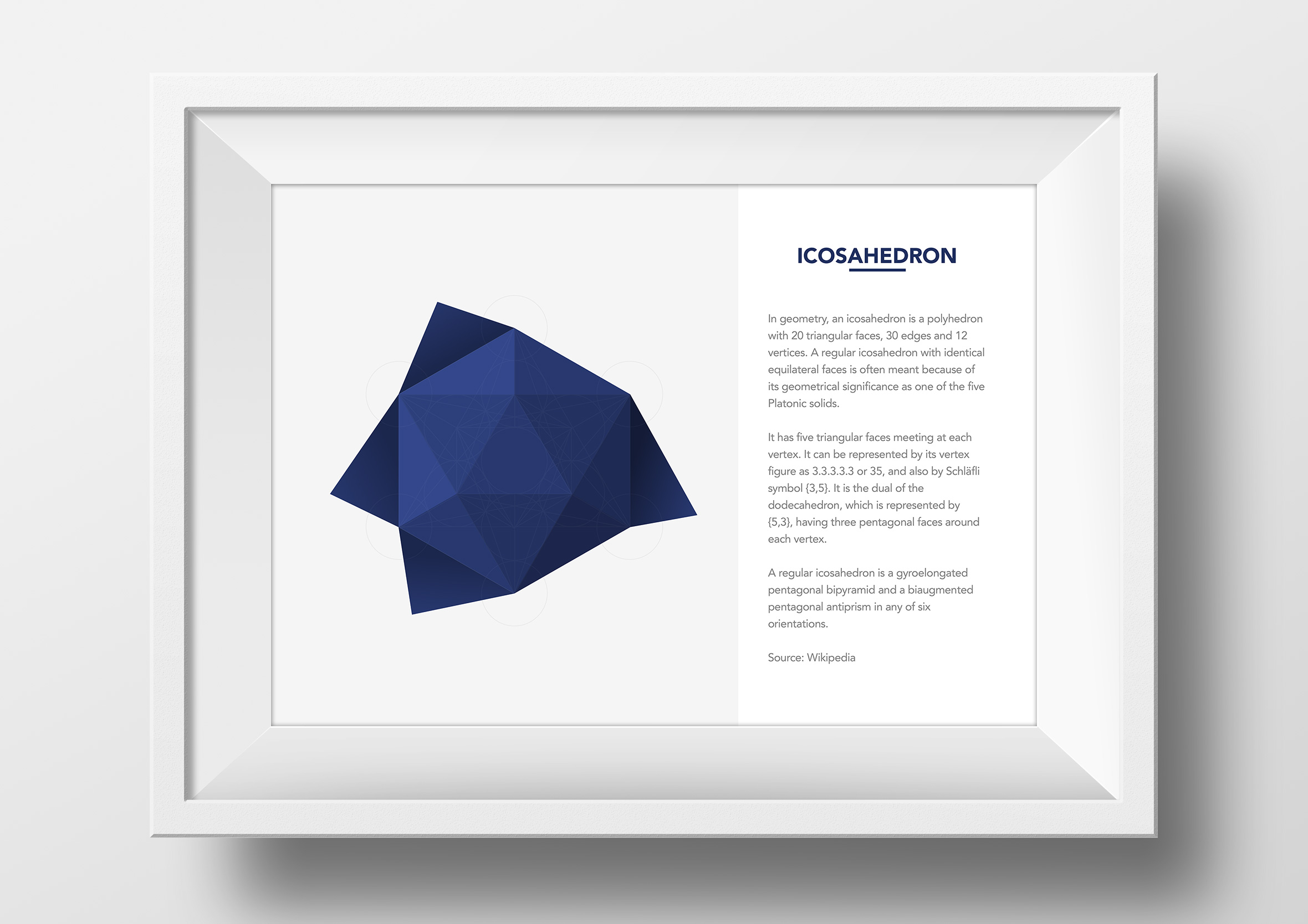 metatrons cube origami app single framed print icosahedron
