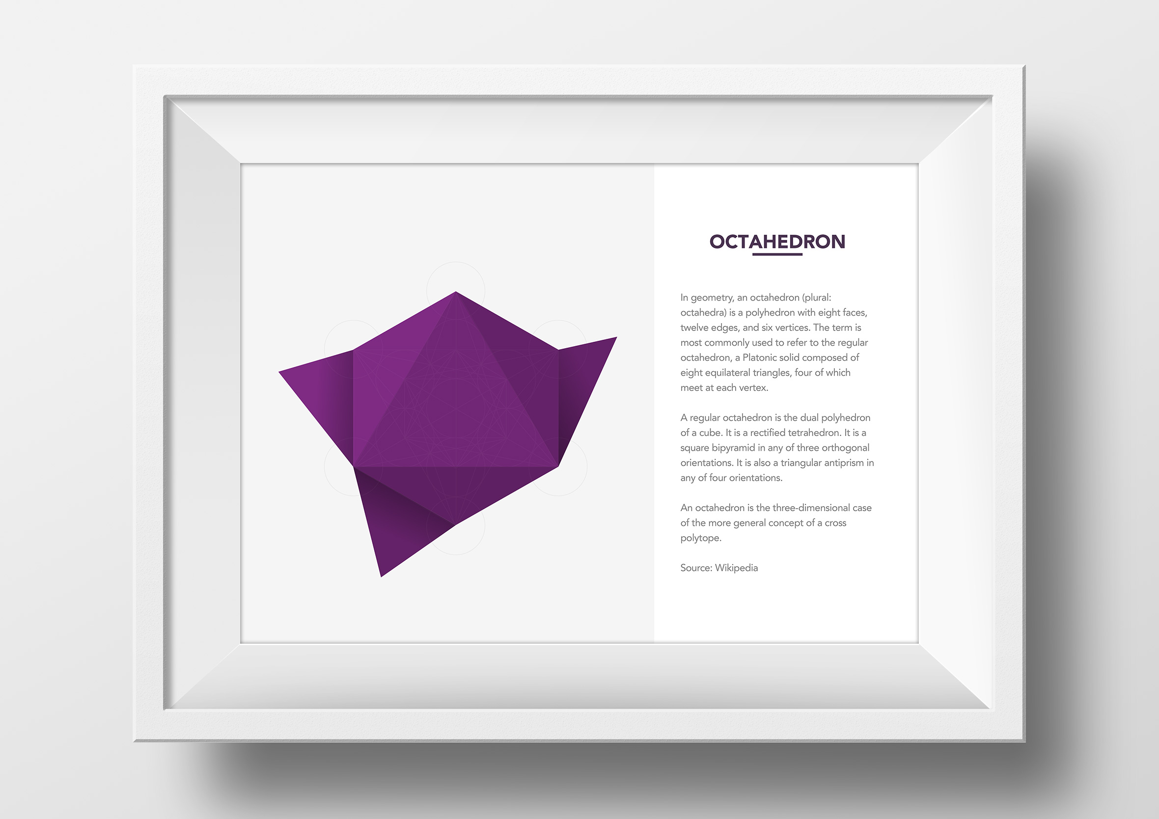 metatrons cube origami app single framed print octahedron