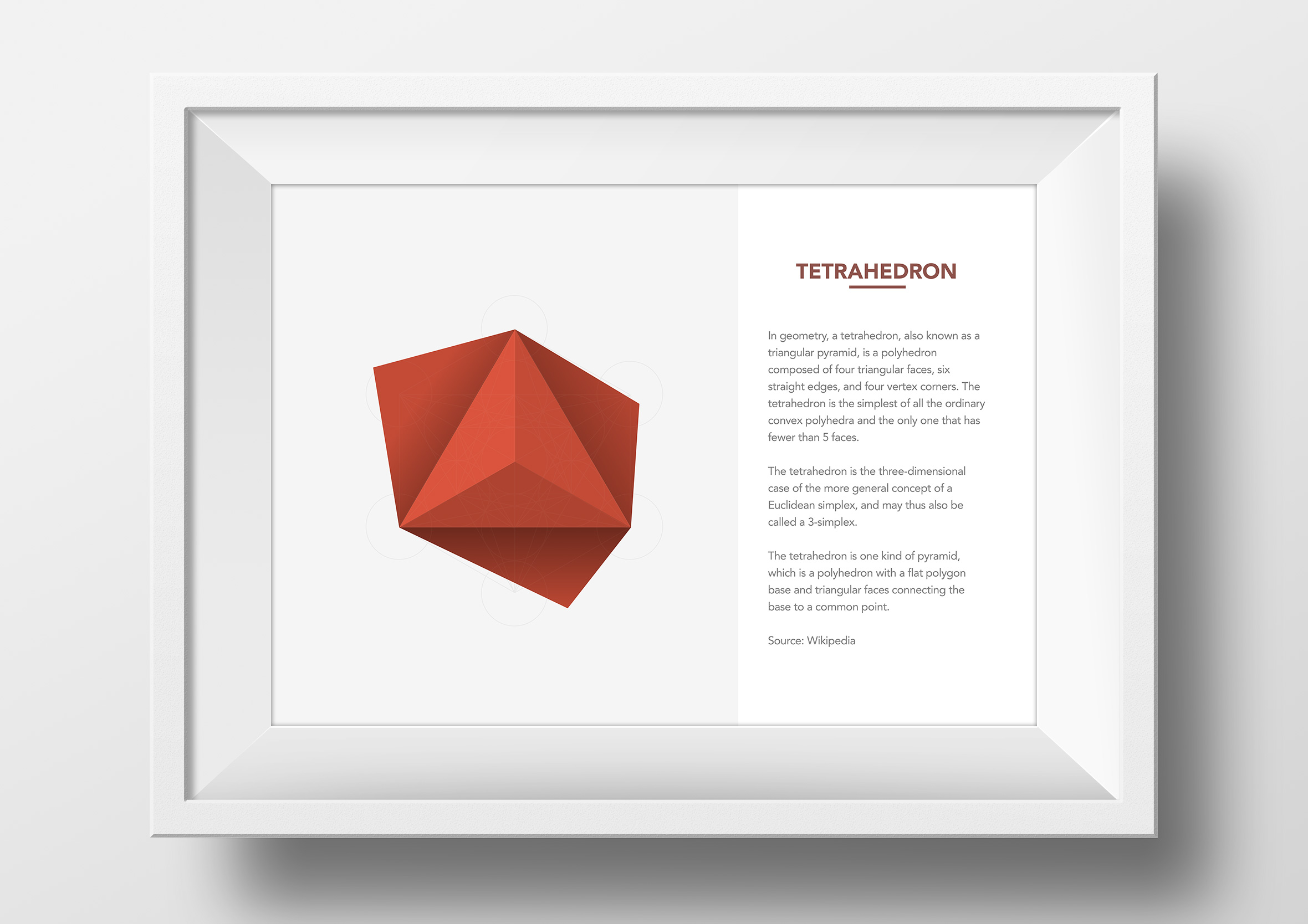 metatrons cube origami app single framed print tetrahedron