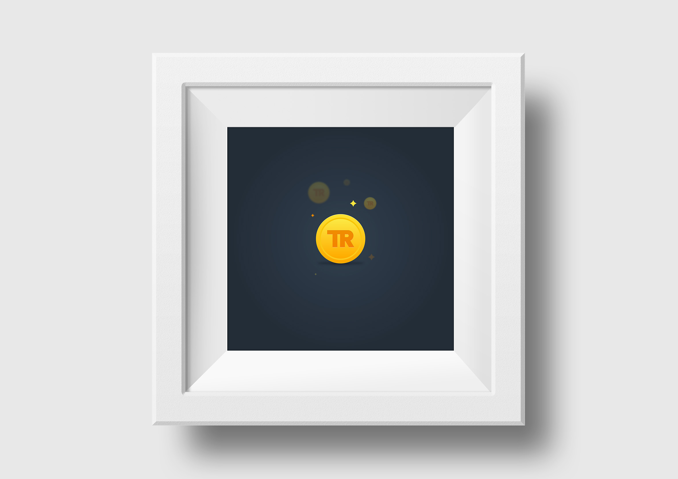 travel rewards square framed print token