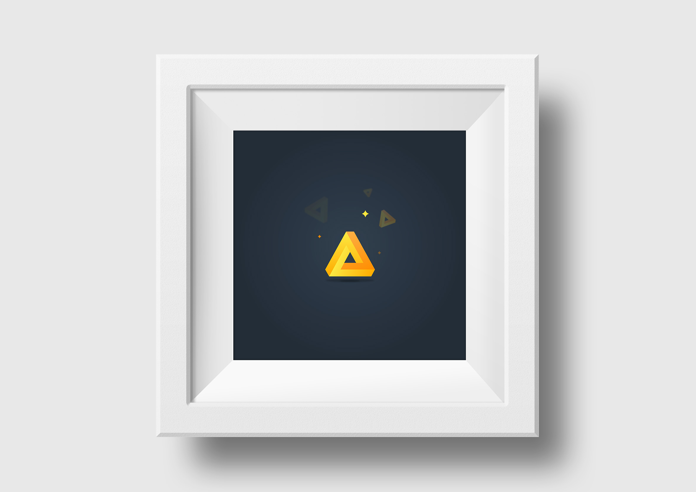travel rewards square framed print impossible triangle